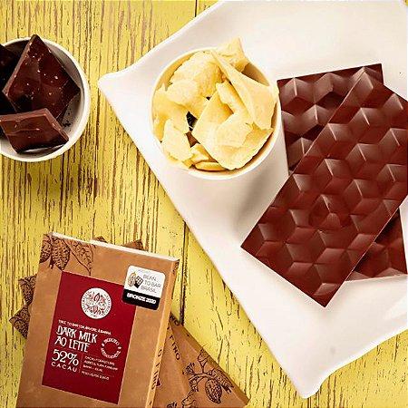 Chocolate 52% Dark Milk - Luzz Cacau 75g