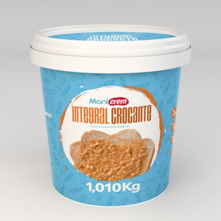 Pasta De Amendoim Crocante - 1Kg Manicrem