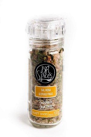 Moedor Sal Rosa e Ervas Finas 100g - Br Spices