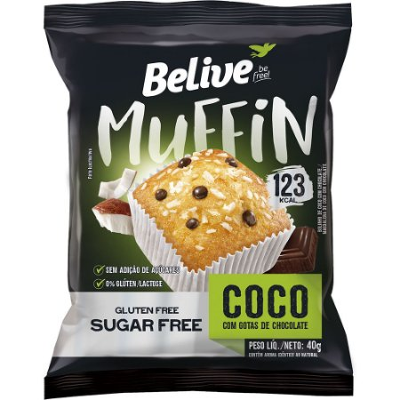 Muffin Coco com Chocolate Zero - BeLive 40g