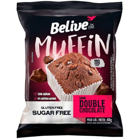 Muffin Double Chocolate Zero - BeLive 40g