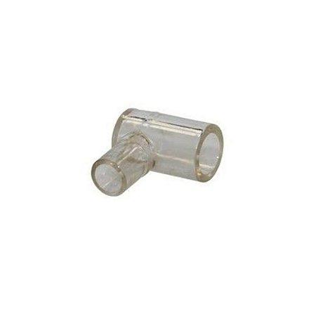 Conector Respiratório tipo Cotovelo (L 90º) para Cânula e Espaço Morto - Unidade