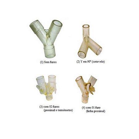 Conector Respiratório em Y, para Circuito Respiratório da Ventcare - Unidade