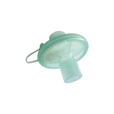Filtro Eletrostático Barreira, Conexão Reta p/ Respirador Mecânico
