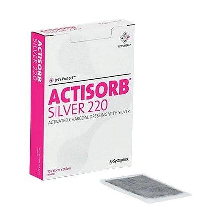 Curativo de Carvão Ativado e Prata ACTISORB SILVER 220 - Unidade