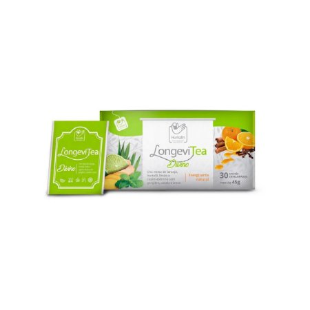 Chá Energizam-te LongeviTea Divino de 1,3g da Humalin - Caixa com 30 sachês