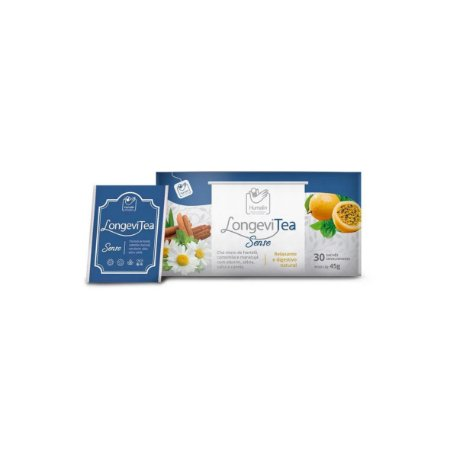 Chá Relaxante Natural LongeviTea Sense - Caixa com 10 sachês