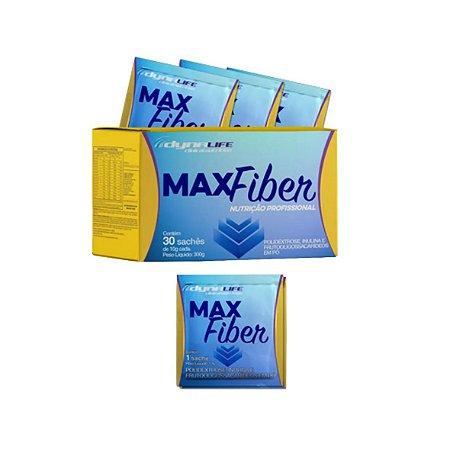 MaxFiber - Polidextrose Inulina e Fruto Oligossacarídeos em Pó de 10g da Dynamic Lab - Caixa com 30 Sachês