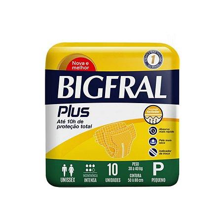 Fralda Geriátrica Bigfral Plus Pequena, com 10 Unidades