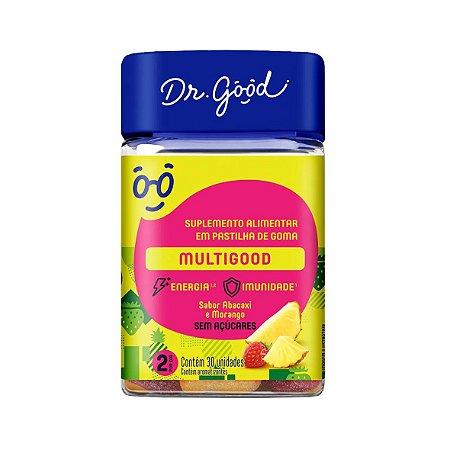 Multigood, Sabor Abacaxi e Morango da Dr.Good - 30 Gomas