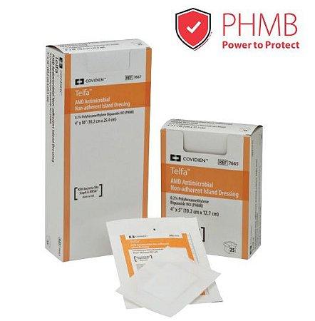 Curativo Não Aderente, Antimicrobiano com PHMB 0,2%, Telfa AMD - Unidade