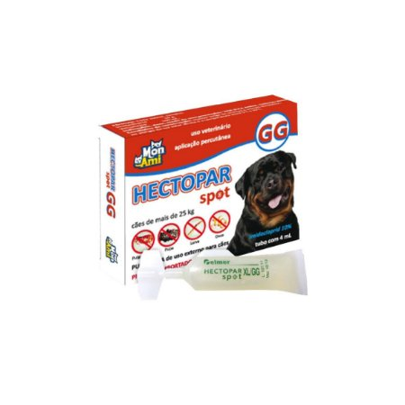 Antipulga Hectopar Spot Gg Cães Acima de 25 Kg