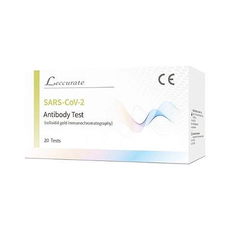 Teste de Anticorpo SARS-CoV-2 Leccurate da Lepu - Caixa com 20 testes  (LEIA A DESCRIÇÃO)