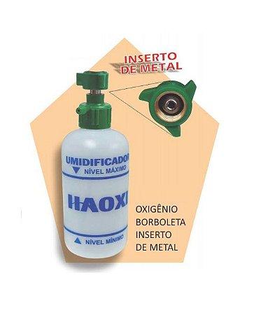Frasco Umidificador para Oxigênio, com conexão em metal - Unidade