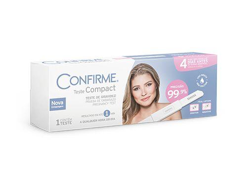 Teste de Gravidez Compact da Confirme - Caixa 1 Teste
