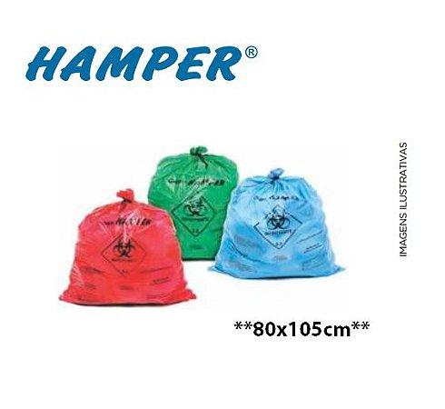 Saco para Roupas Infectadas Hamper, 80 x 105 cm, até 100L, ColOff - 5.000 Unidades