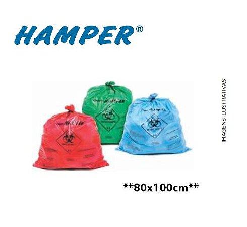 Saco para Roupas Infectadas Hamper, 80 x 100 cm, até 100L, ColOff - 5.000 Unidades