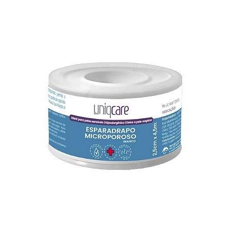 Esparadrapo Microporoso Branco de 2,5cm x 4,5m da Uniqcare - Unidade