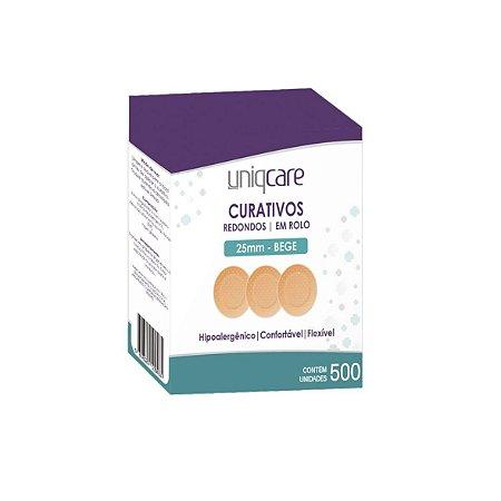 Curativos Redondos em Rolo da Uniqcare - Caixa 500 Unidades