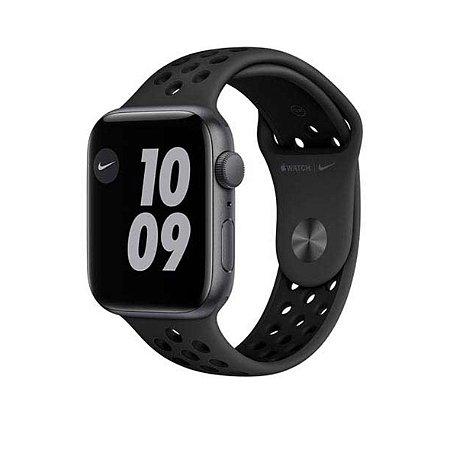 Apple Watch SE Nike Cinza, 44mm, GPS com Pulseira Esportiva Nike Cinza e Preta - Unidade