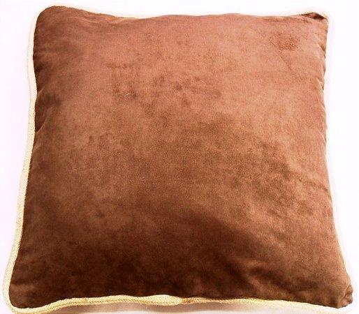 Almofada ultra suede marron