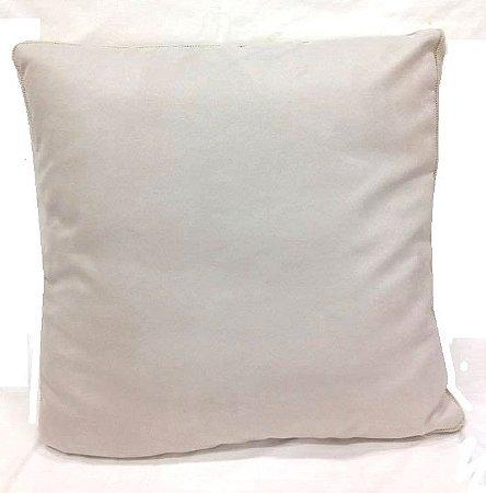 Almofada camurça com trico