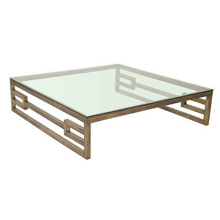 Mesa de centro madeira natural quadrada
