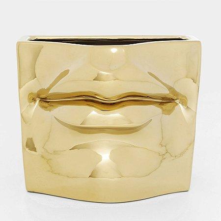 Vaso boca dourada