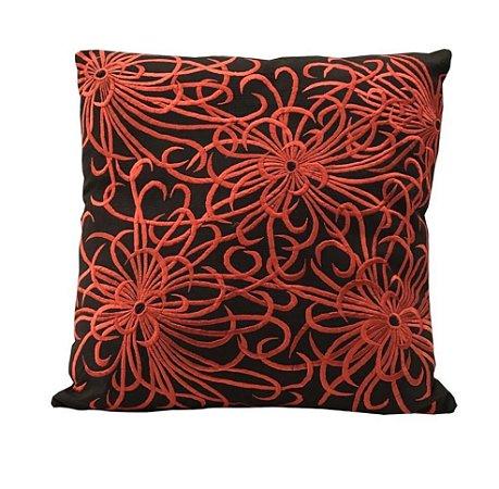 Almofada bordado laranja