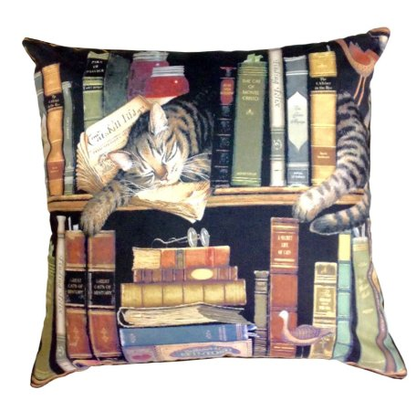 Almofada Books e Cats
