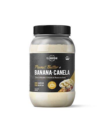 Creme de Amendoim com whey, sabor Banana com Canela, Zero açucar 500g