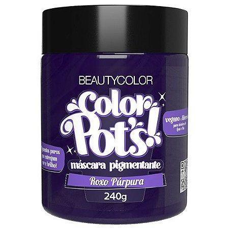 Máscara Pigmentante Color Pots Roxo Purpura 240g - Beauty Color