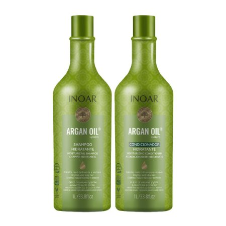 Kit Argan Oil Shampoo e Condicionador Argan Systen 1Lt - Inoar