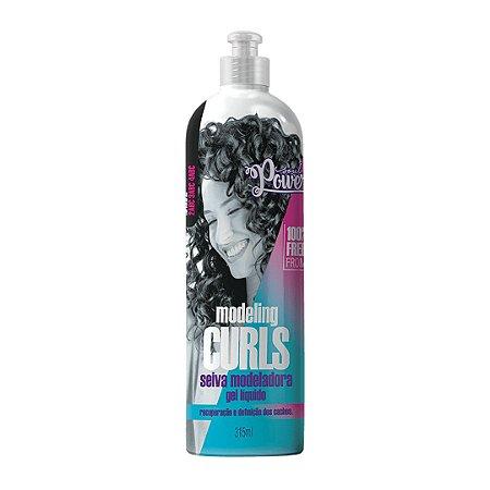 Gel Liquido Seiva Modeladora Modeling curls 315 ml- Soul Power
