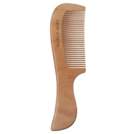 Pente de madeira Marco Boni - dentes finos