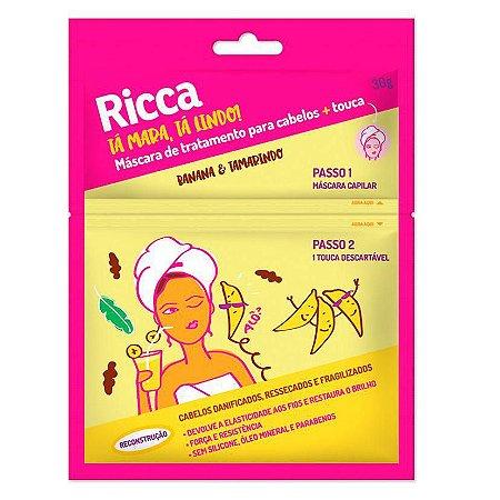 Máscara Capilar Ricca + touca - Banana e tamarindo