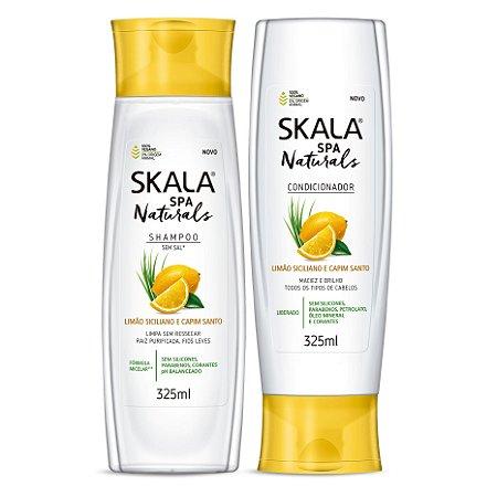 Skala Spa Naturals (shampoo e condiconador) - Limão Siciliano e Capim Santo