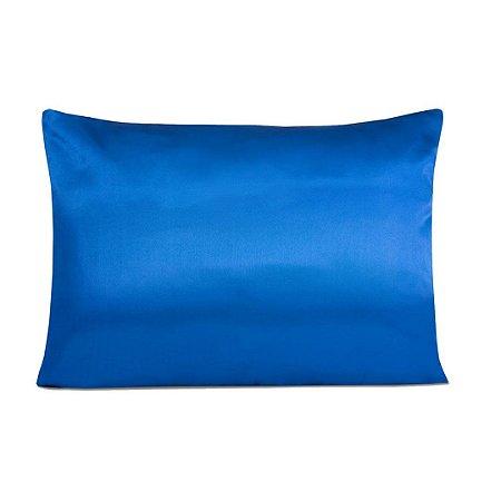 Fronha De Cetim Anti frizz - Azul Royal