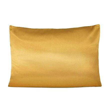 Fronha De Cetim Anti frizz - Dourada