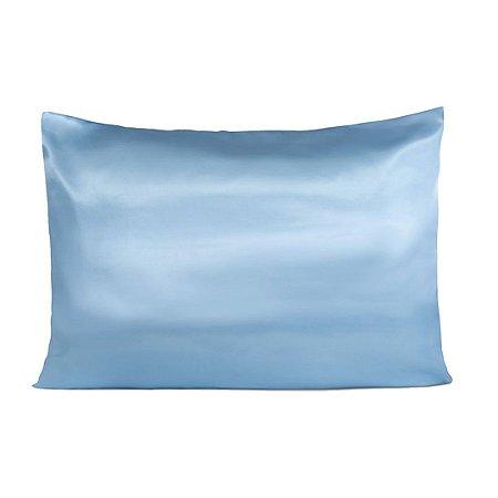 Fronha De Cetim Anti frizz - Azul Bebe