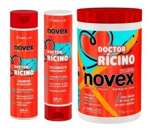 KIT Doctor Rícino Novex - SH + COND + Mascara 1kg