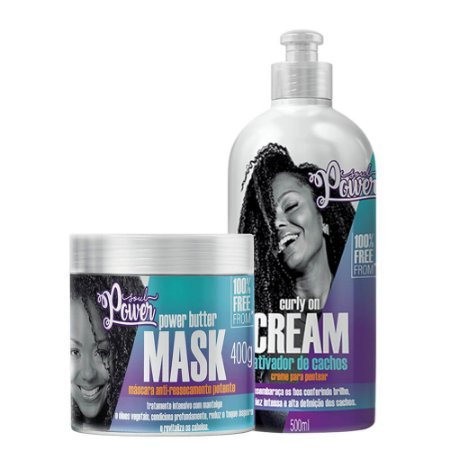 Kit Soul Power Curly on cream e Power Butter Mask