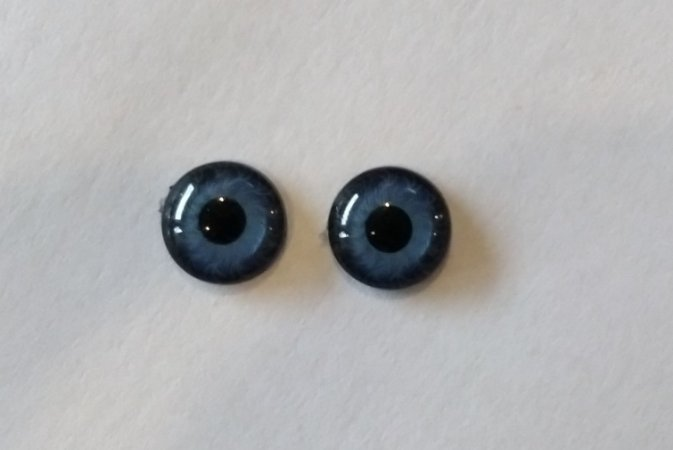 Olhos azuis sem arame - 9mm
