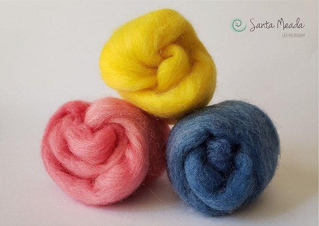 Meada de Lã Corriedale - 12g - Diversas Cores
