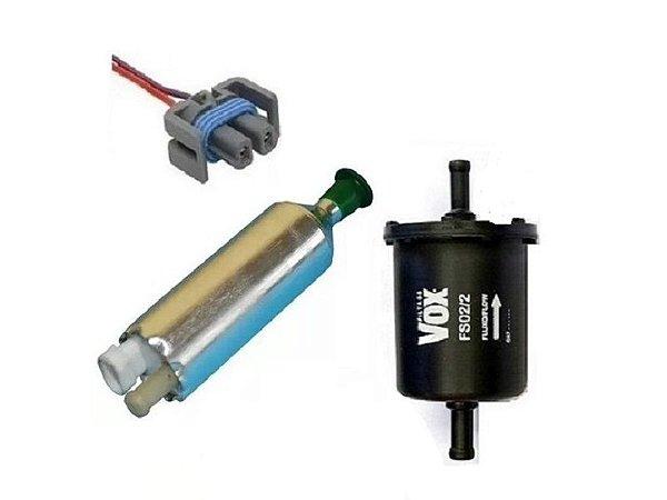 Bomba de Combustivel Externa + Filtro  + Conector chicote