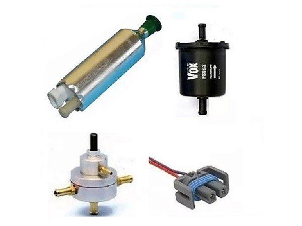 Bomba de Combustivel  Monza externa Flex + Dosador Hp + Filtro, Conector Chicote