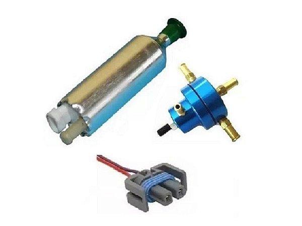 Bomba de Combustivel Externa Flex + Dosador Hp Pequeno + Chicote