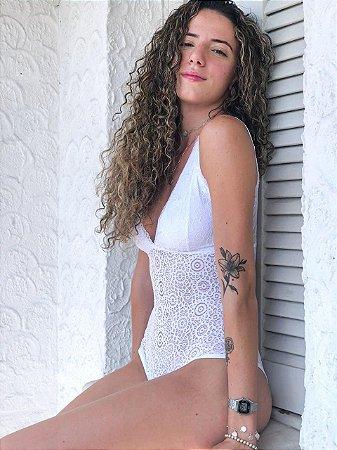 body renda | branco