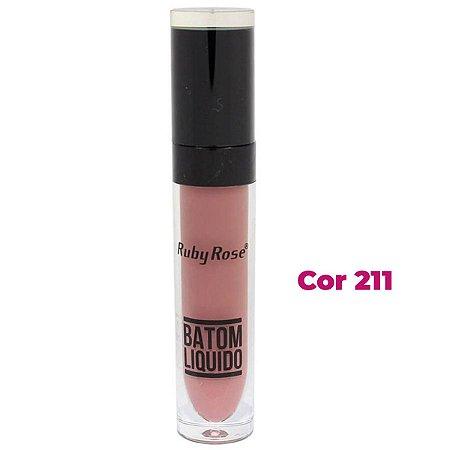 Batom Liquido Matte Ruby Rose HB-8213