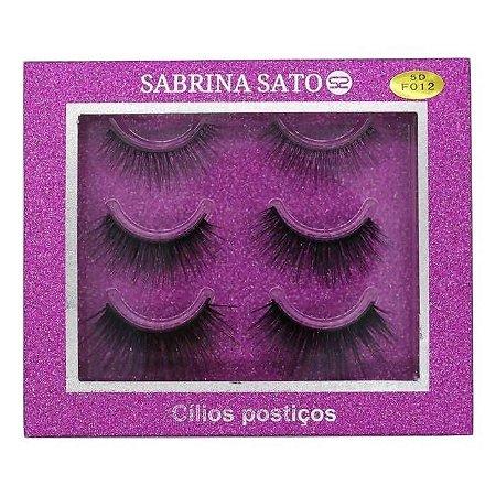 Cílios Postiços Suave Natural 3 Pares + Cola - Sabrina Sato - Ref 722